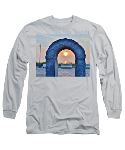 Sunrise Through The Arch - Rehoboth Beach Delaware Long Sleeve T-Shirt