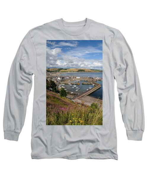 Stonhaven Harbour  Scotland Long Sleeve T-Shirt by Jeremy Voisey