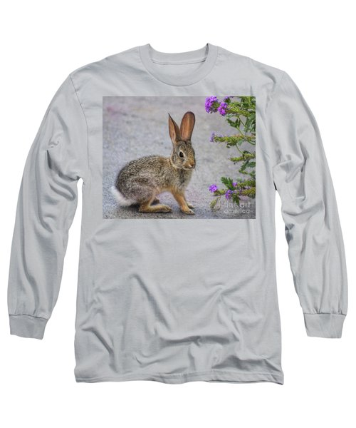 Long Sleeve T-Shirt featuring the photograph Stop And Smell The Flowers by Tammy Espino