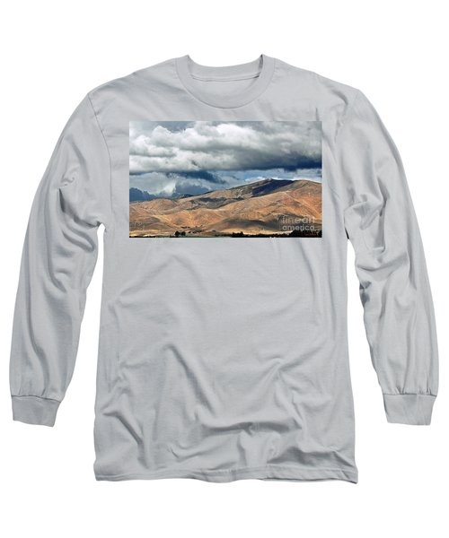 Storm Clouds Floating Above Mountains Long Sleeve T-Shirt