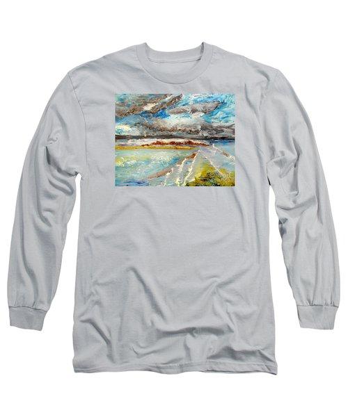 Storm Coming At Austinmer Beach Long Sleeve T-Shirt