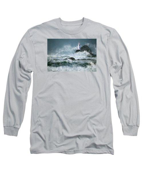 Stormy Seas Long Sleeve T-Shirt by Michael Malicoat