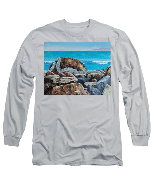 Long Sleeve T-Shirt featuring the painting Stranded by Susan DeLain