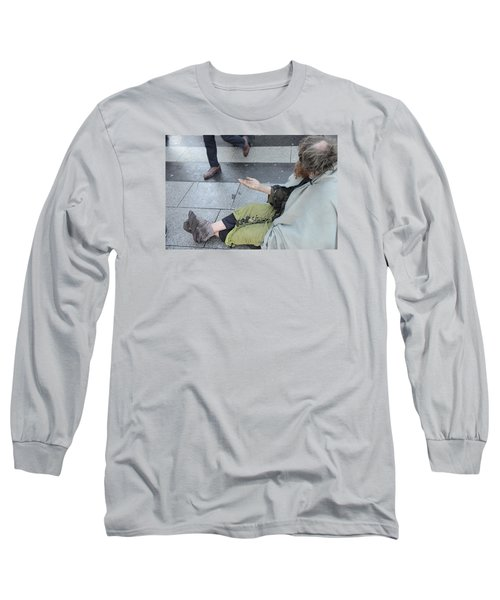 Street People - A Touch Of Humanity 25 Long Sleeve T-Shirt by Teo SITCHET-KANDA
