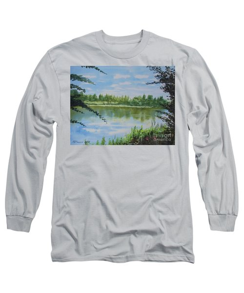 Summer By The River Long Sleeve T-Shirt by Martin Howard