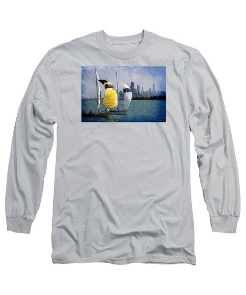 Summer Day Long Sleeve T-Shirt by Milena Ilieva