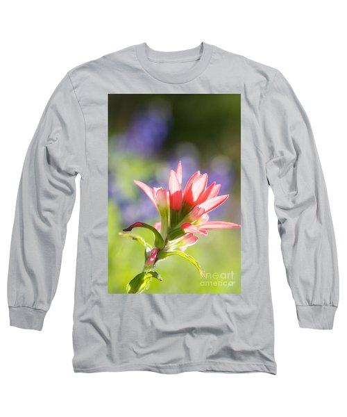 Sun Filled Paintbrush Long Sleeve T-Shirt by Erika Weber
