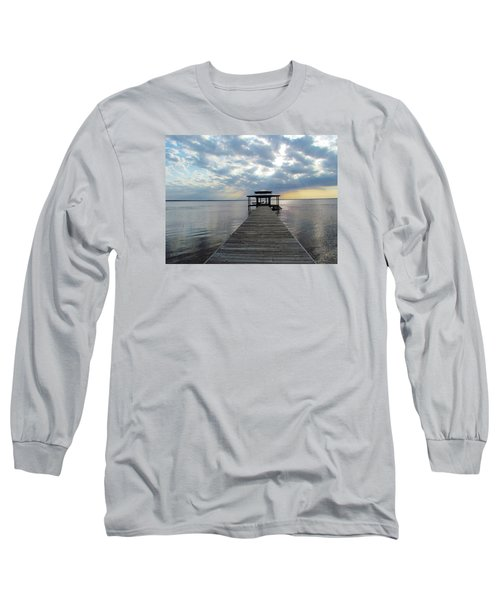 Long Sleeve T-Shirt featuring the photograph Sun Rays On The Lake by Cynthia Guinn
