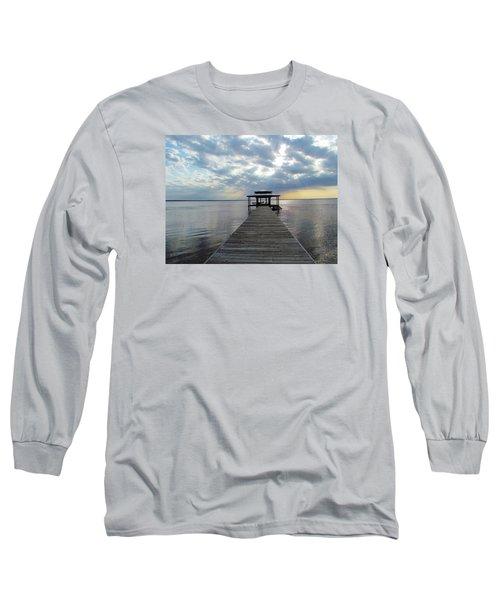 Sun Rays On The Lake Long Sleeve T-Shirt by Cynthia Guinn