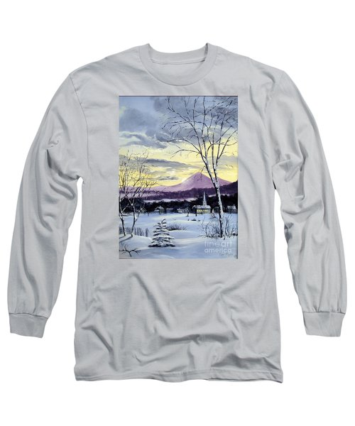 Long Sleeve T-Shirt featuring the painting Sunday In Winter by Lee Piper