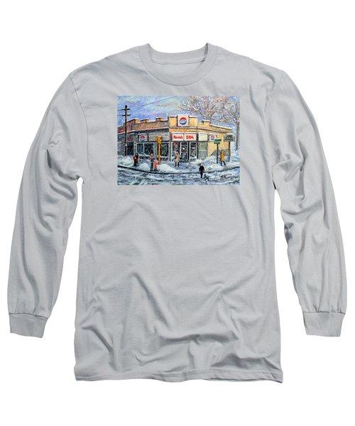 Sunday Morning At Renie's Spa Long Sleeve T-Shirt by Rita Brown