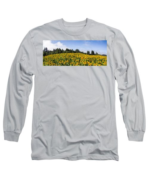 Sunflower Horizon Number 2 Long Sleeve T-Shirt