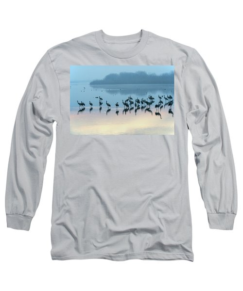 Sunrise Over The Hula Valley Israel 5 Long Sleeve T-Shirt