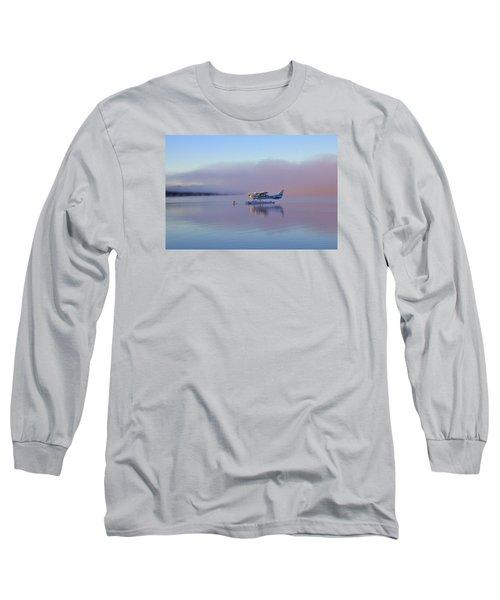 Sunrise On Lake Te Anu Long Sleeve T-Shirt by Venetia Featherstone-Witty