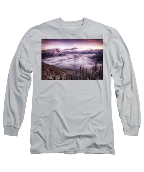 Sunrise Over The Canadian Rockies Long Sleeve T-Shirt