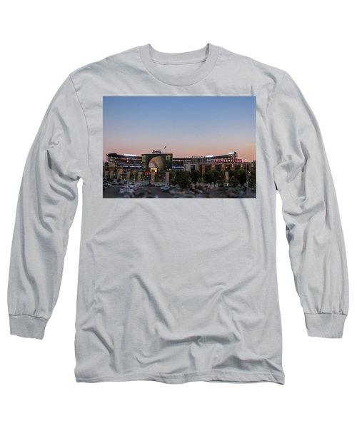 Sunset At Turner Field Long Sleeve T-Shirt