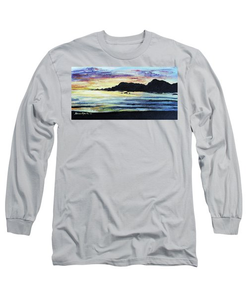 Long Sleeve T-Shirt featuring the painting Sunset Beach by Shana Rowe Jackson