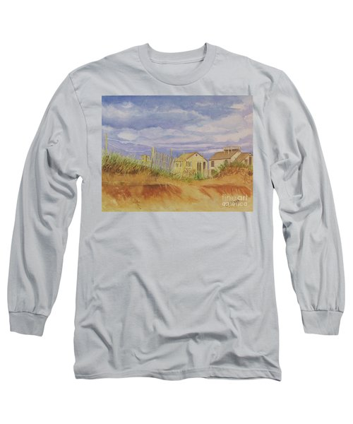 Long Sleeve T-Shirt featuring the painting Sunset Nantucket Beach by Carol Flagg