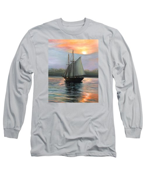 Sunset Sails Long Sleeve T-Shirt by Eileen Patten Oliver