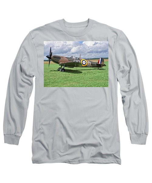 Supermarine Spitifire 1a Long Sleeve T-Shirt by Paul Gulliver
