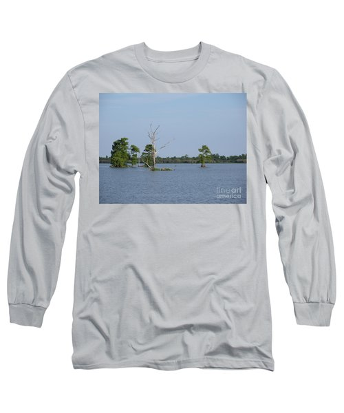 Long Sleeve T-Shirt featuring the photograph Swamp Cypress Trees by Joseph Baril