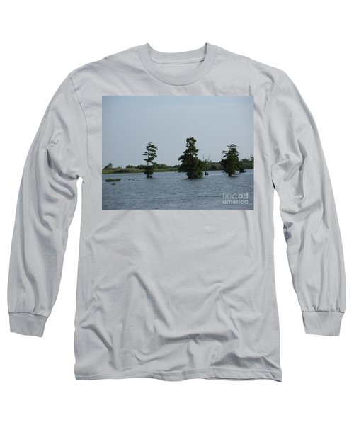 Long Sleeve T-Shirt featuring the photograph Swamp Tall Cypress Trees  by Joseph Baril