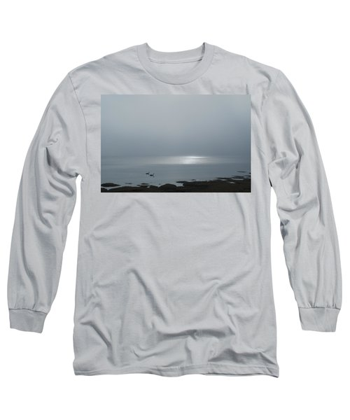 Swans At Sunrise Long Sleeve T-Shirt