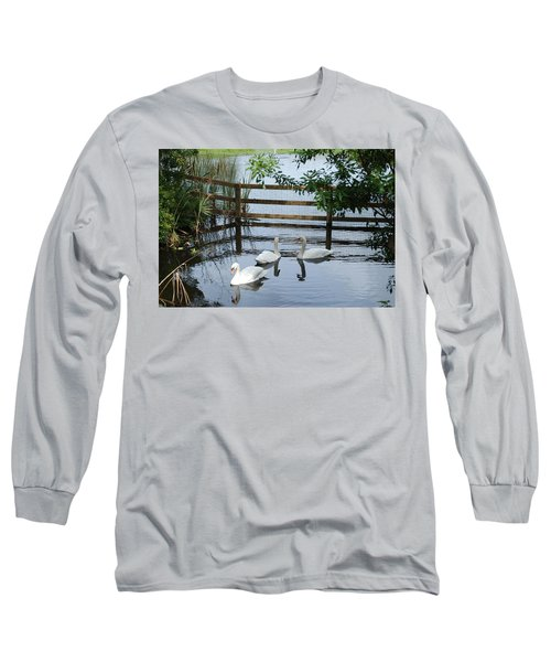 Swans In The Pond Long Sleeve T-Shirt