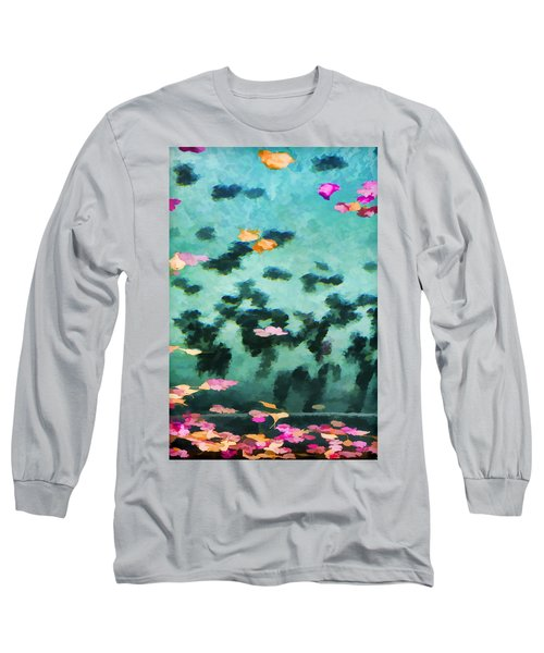 Swirling Leaves And Petals 2 Long Sleeve T-Shirt