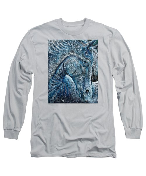 Swirling Spiraling Snow Long Sleeve T-Shirt