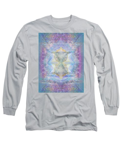 Synthecentered Doublestar Chalice In Blueaurayed Multivortexes On Tapestry Lg Long Sleeve T-Shirt