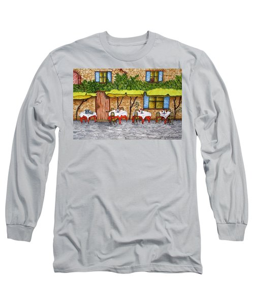 Table For Three Long Sleeve T-Shirt