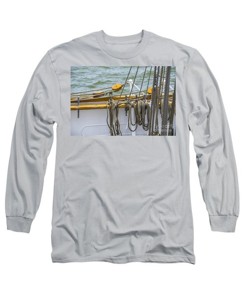Long Sleeve T-Shirt featuring the photograph Tall Ship Rigging by Dale Powell