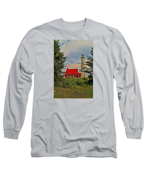 Tawas Point Light Retro Mode Long Sleeve T-Shirt
