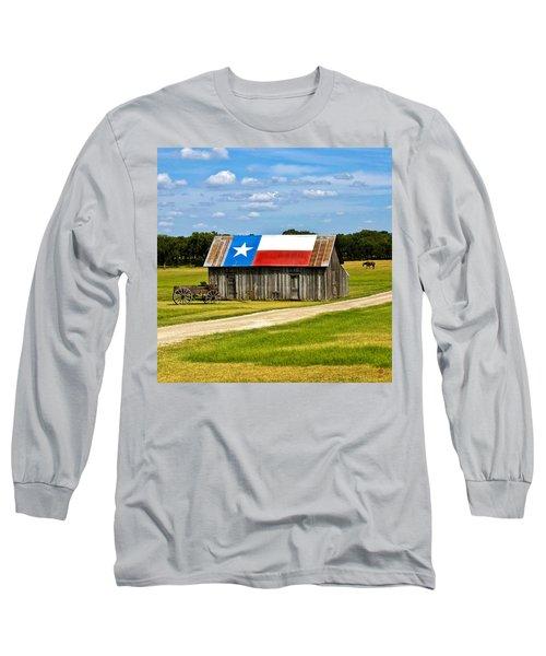 Texas Barn Flag Long Sleeve T-Shirt
