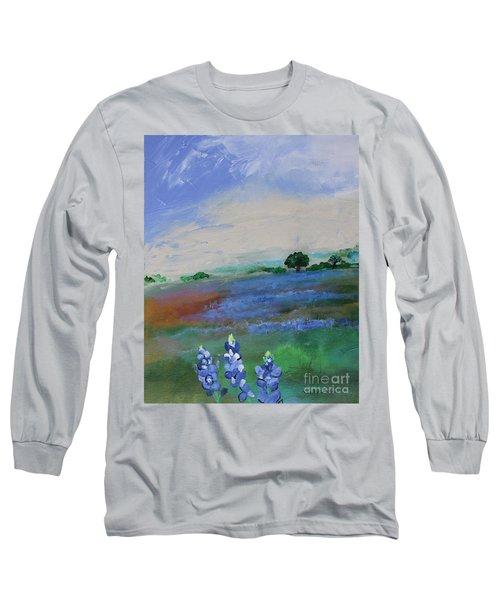 Texas Bluebonnets Long Sleeve T-Shirt
