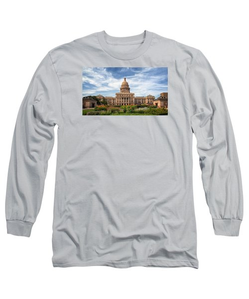 Texas State Capitol II Long Sleeve T-Shirt by Joan Carroll