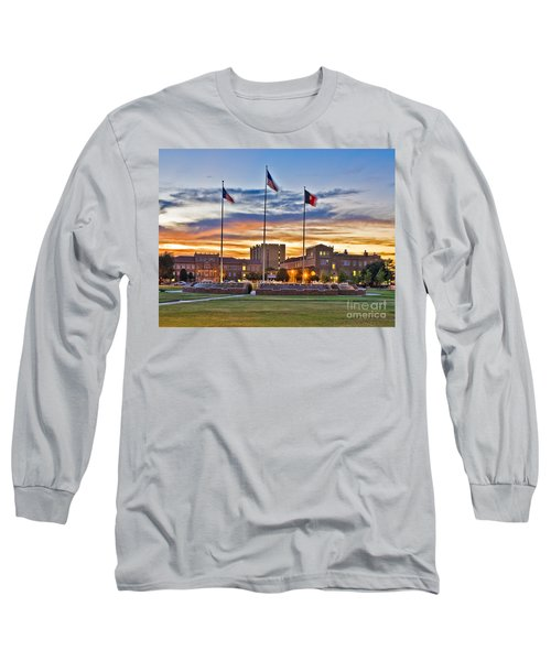 Long Sleeve T-Shirt featuring the photograph Memorial Circle At Sunset by Mae Wertz