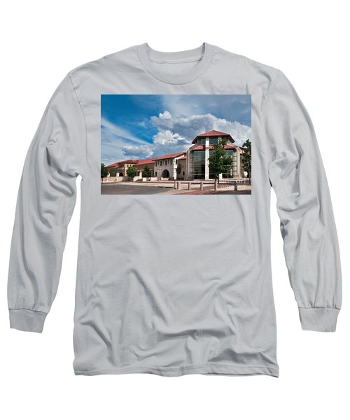 Long Sleeve T-Shirt featuring the photograph Texas Tech Student Union by Mae Wertz