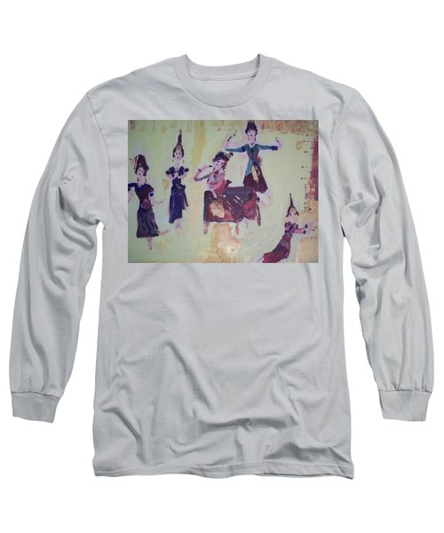 Thai Dance Long Sleeve T-Shirt by Judith Desrosiers