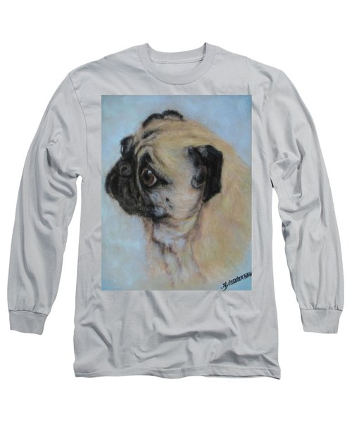 Pug's Worried Look Long Sleeve T-Shirt