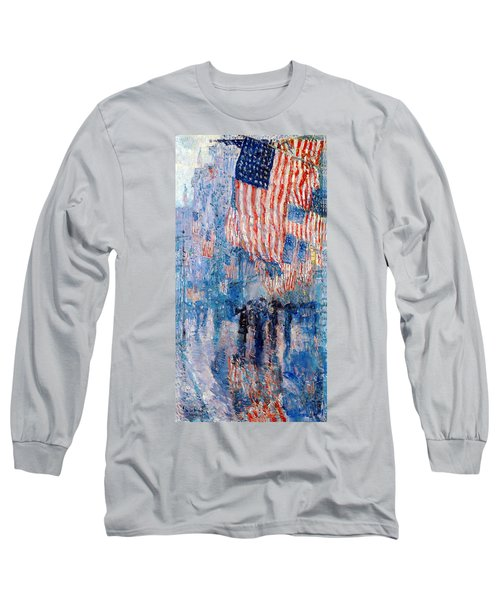 The Avenue In The Rain Long Sleeve T-Shirt