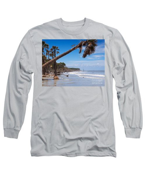 The Beach At Hunting Island State Park Long Sleeve T-Shirt