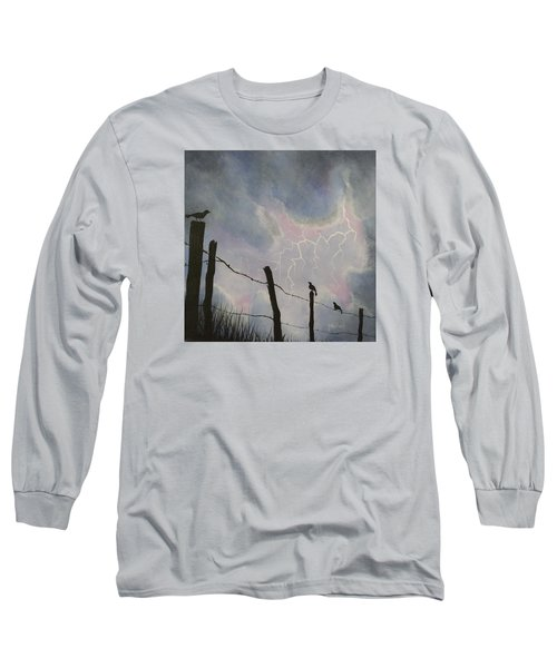 The Birds - Watching The Show Long Sleeve T-Shirt by Jack Malloch