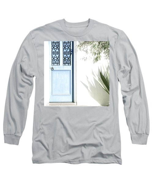 Long Sleeve T-Shirt featuring the photograph The Blue Door by Holly Kempe