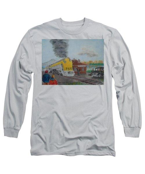 The Chesapeake And Ohio George Washington At South Portsmouth Station Long Sleeve T-Shirt