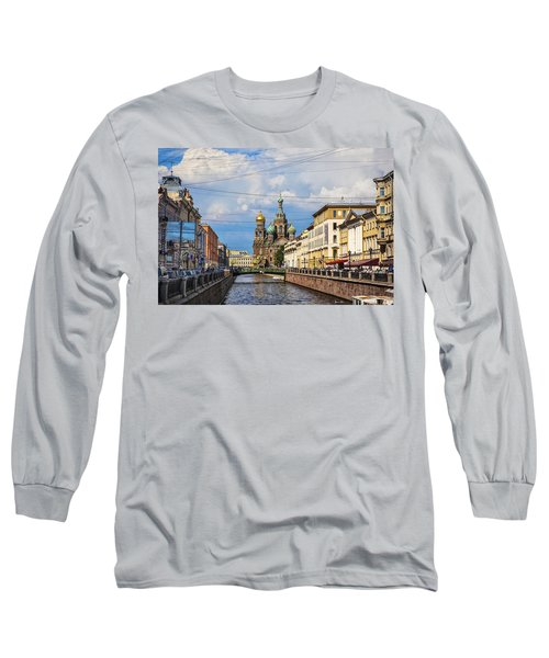 The Church Of Our Savior On Spilled Blood - St. Petersburg - Russia Long Sleeve T-Shirt by Madeline Ellis