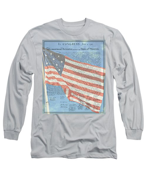 The Declaration Of Independence - Star-spangled Banner Long Sleeve T-Shirt