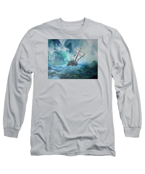 The Endurance At Sea Long Sleeve T-Shirt by Jean Walker