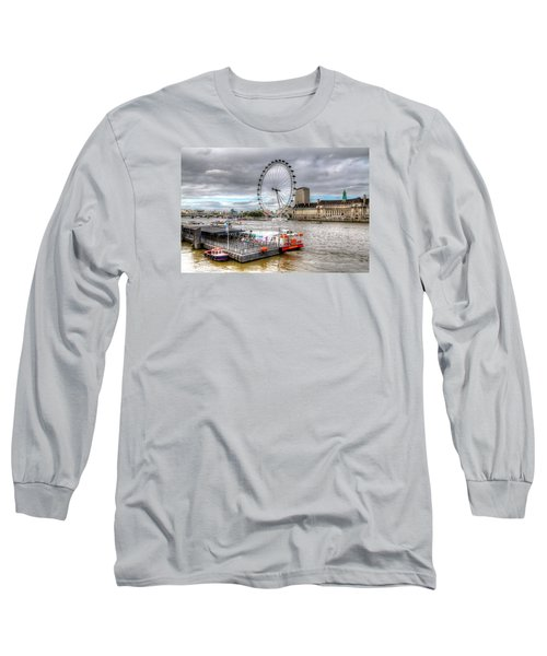 Long Sleeve T-Shirt featuring the photograph The Eye Across The Thames by Tim Stanley
